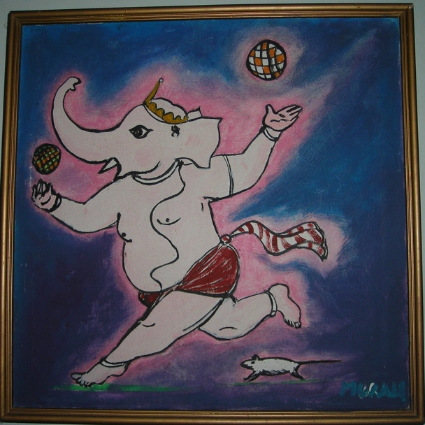 Bala Ganesha playing