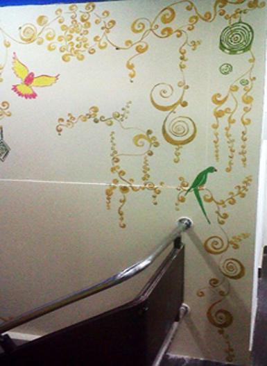 Stairwell Murals